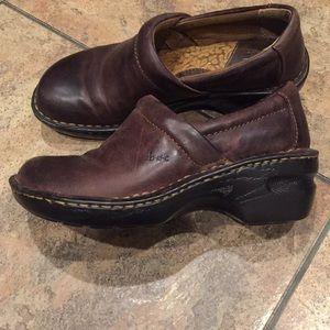B.o.c. Born concept Peggy brown leather clog nurse